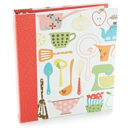 Retro Recipe Organizer Binder, , large