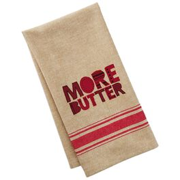 More Butter Cotton Tea Towel, , large