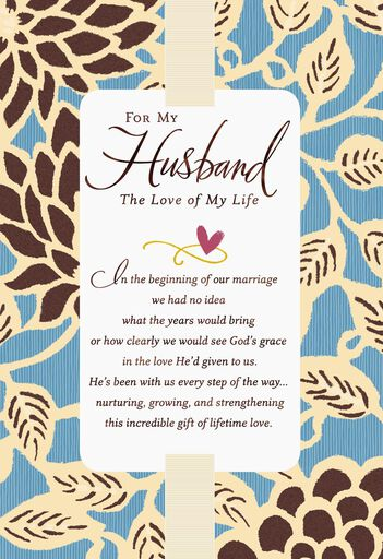 love of my life religious anniversary card for husband