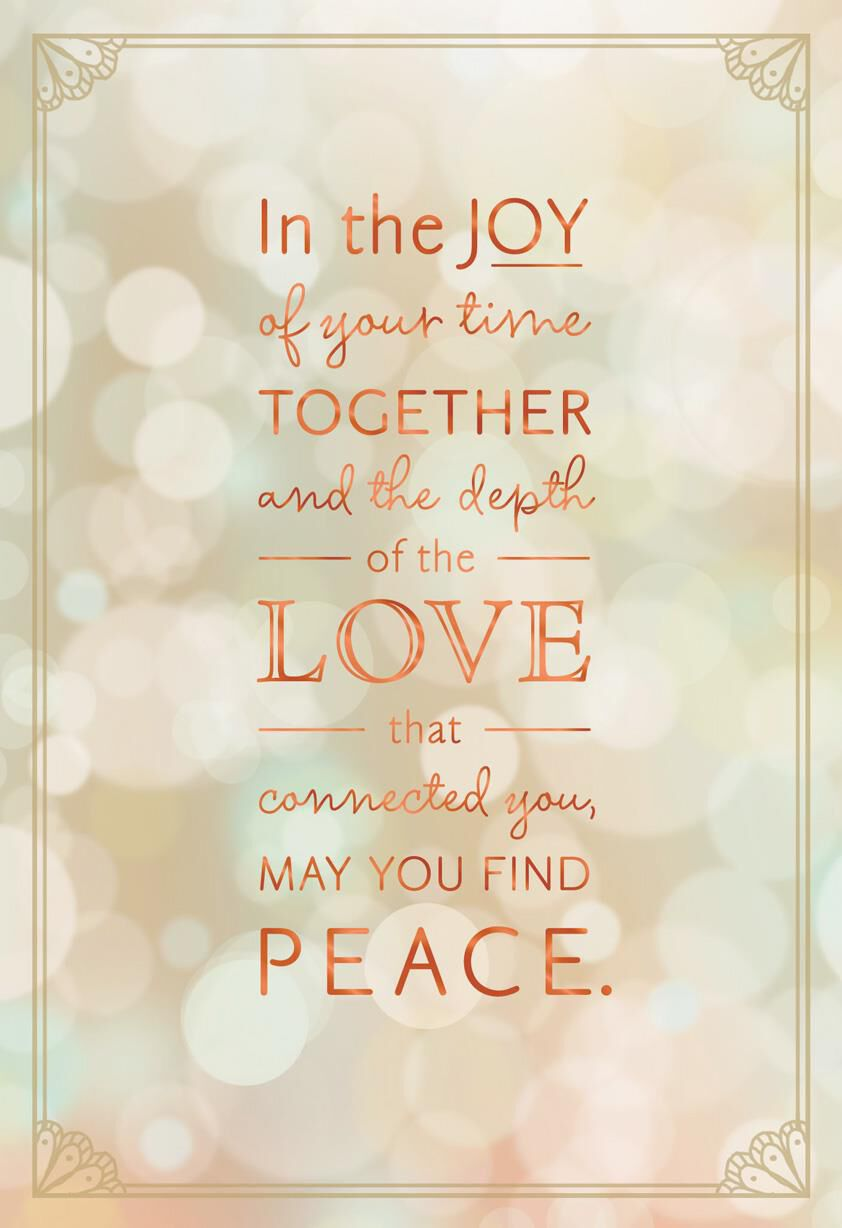 May you find peace sympathy card greeting cards hallmark kristyandbryce Images