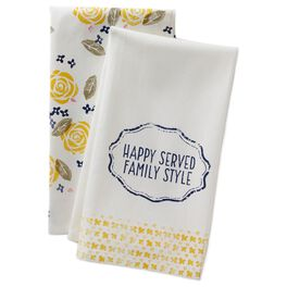 Happy Is Served Family Style Tea Towels, Set of 2, , large