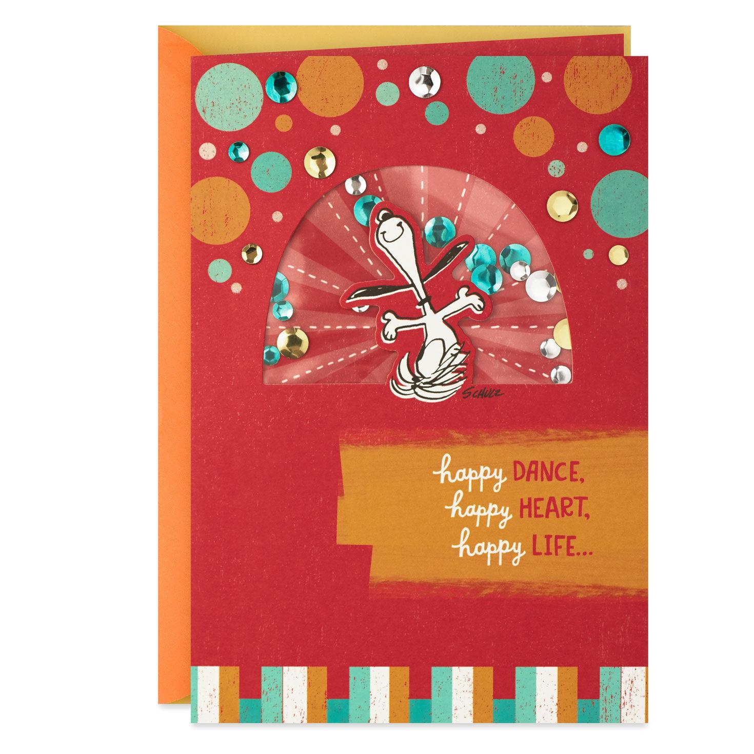Snoopy Happy Dance Birthday Card - Greeting Cards - Hallmark
