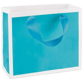"Turquoise Small Gift Bag, 5.5"", , large"