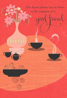 Company of a Good Friend Religious Just Because Card,