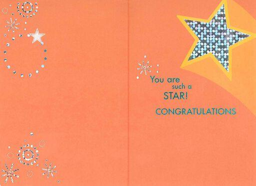 Shining Star New Job Congratulations Card,