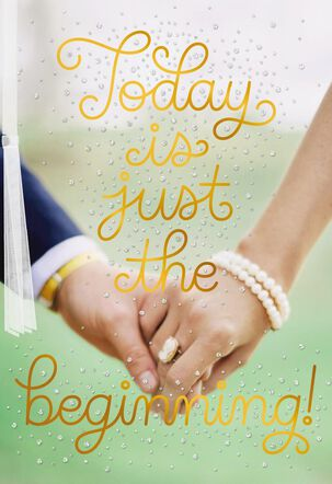 Holding Hands Wedding Card