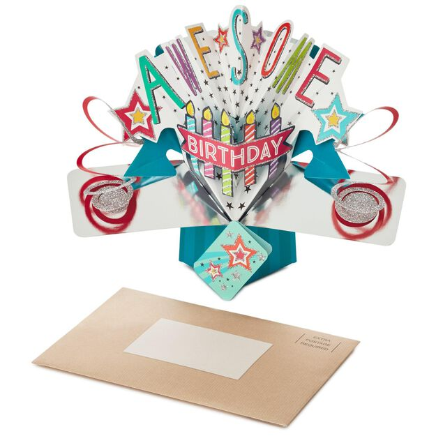 Awesome PopUp Birthday Card Greeting Cards Hallmark – Pop Up Birthday Card
