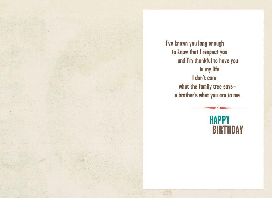 Family Tree Like A Brother Birthday Card Greeting Cards Hallmark