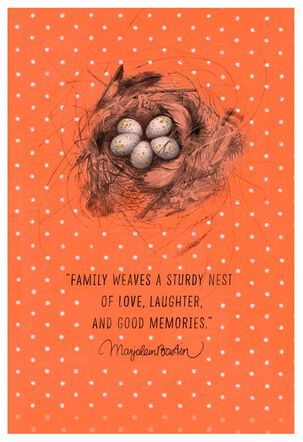 Family Means Love and Laughter Marjolein Bastin Birthday Card