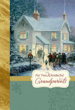 Thomas Kinkade Grandparents Christmas Card