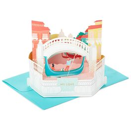 Romantic Gondola Pop Up Love Card, , large