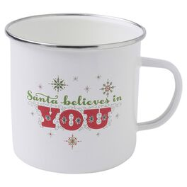 Holiday Vintage-Inspired Santa Snowflakes Mug, , large