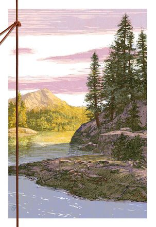 Illustrated Great Outdoors Scene Birthday Card