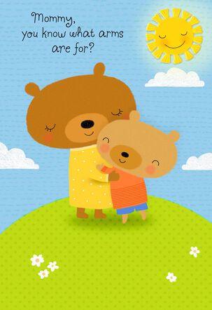Sweet Hugging Bears Birthday Card for Mom