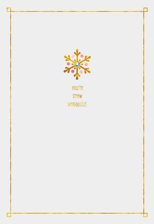 Lucky Snowflakes Christmas Card for Niece