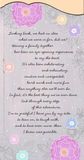 Thankful to Have You By My Side Mother's Day Card for Wife,