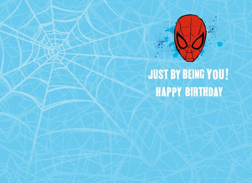 Power to Be Incredible Spider-Man Birthday Card,