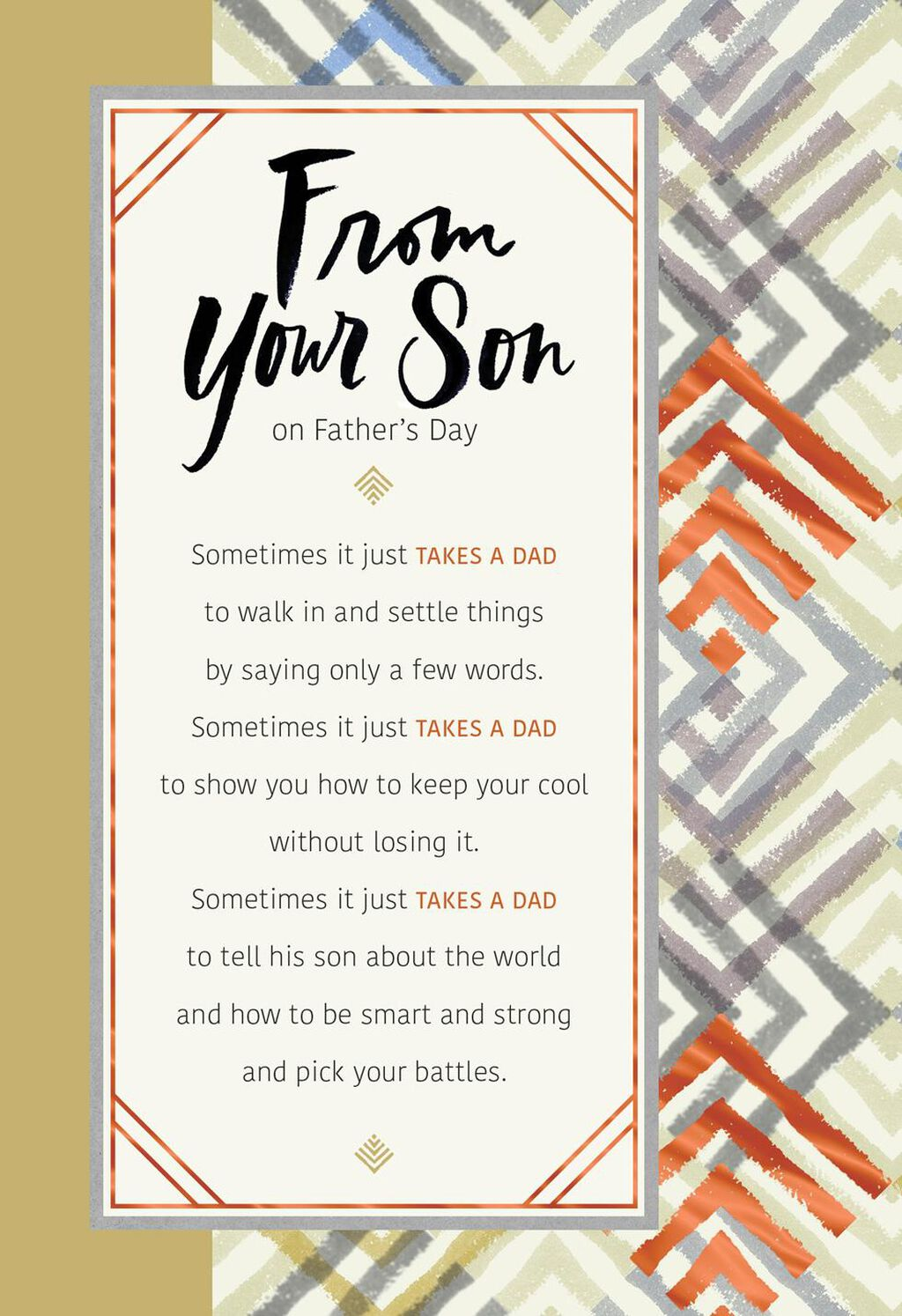 It Takes A Dad Fathers Day Card From Son Greeting Cards Hallmark