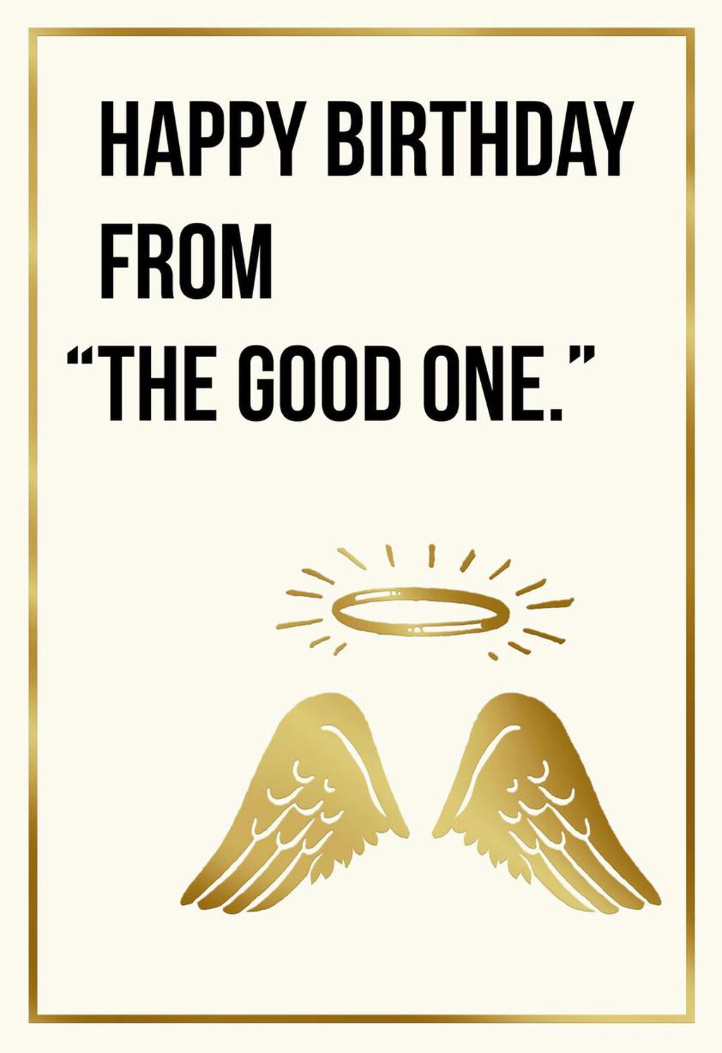 From Your Little Angel Funny Birthday Card