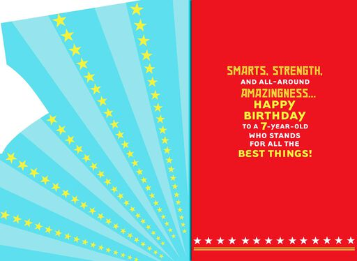 Wonder WomanTM Musical 7th Birthday Card