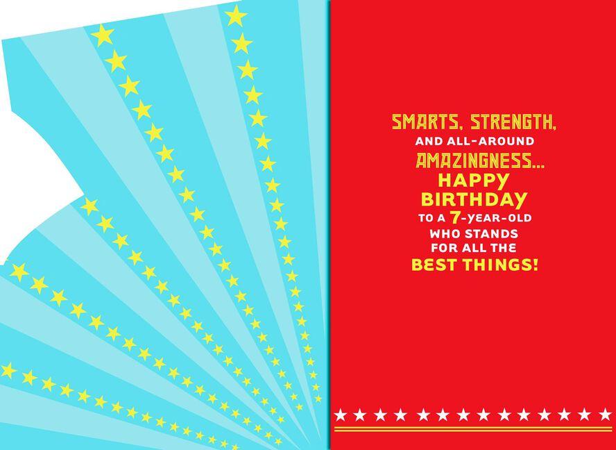 Wonder Woman Musical 7th Birthday Card Greeting Cards Hallmark