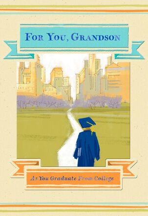 Cityscape College Graduation Card for Grandson