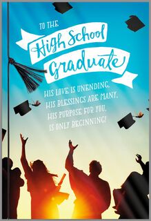 All Things Are Possible Religious Graduation Card for High School Graduate,