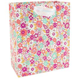 "Mini Floral Print Large Gift Bag, 13"", , large"