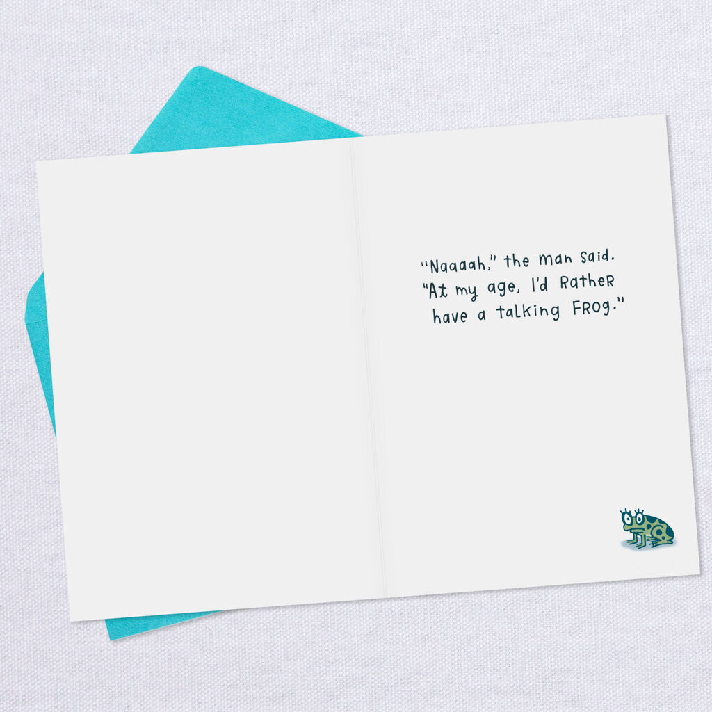 A Man Your Age Funny Birthday Card For Him