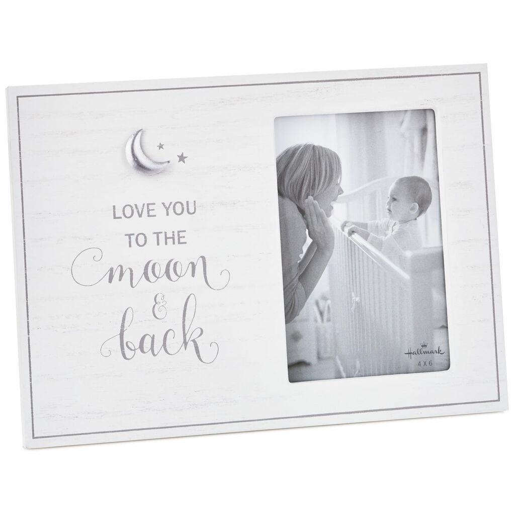 Love You To The Moon And Back Wood Picture Frame 4x6 Picture
