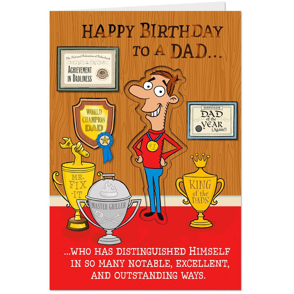 A Distinguished Gentleman Funny Birthday Card For Dad