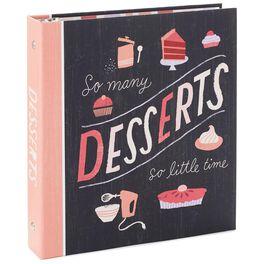 So Many Desserts Recipe Organizer Book, , large