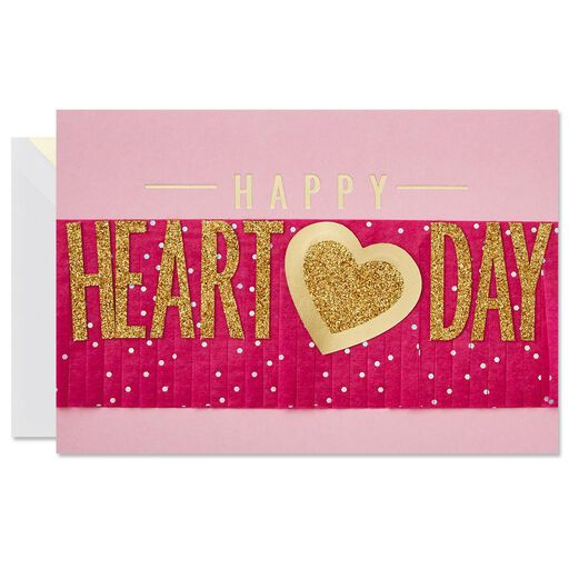 heart day banner valentines day card for anyone