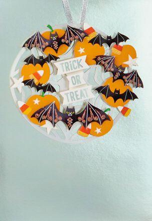 Bats and Pumpkins Halloween Card
