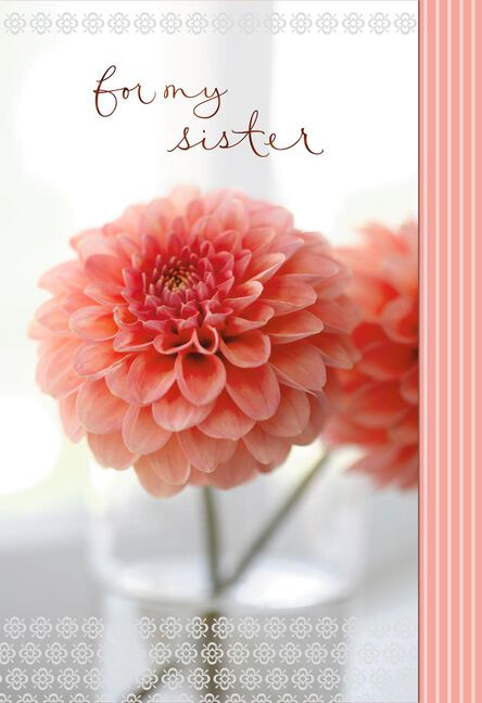 I M Grateful You Re In My Life Birthday Card For Sister Greeting
