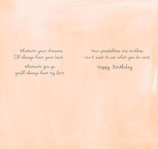 Endless Possibilities Birthday Card,
