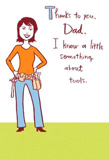 Fixer-Upper Funny Father's Day Card From Daughter,