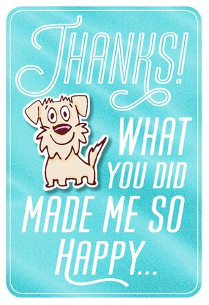 Happy, Happy Dog Thank You Card