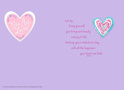 unicef colorful hearts valentines day card for daughter