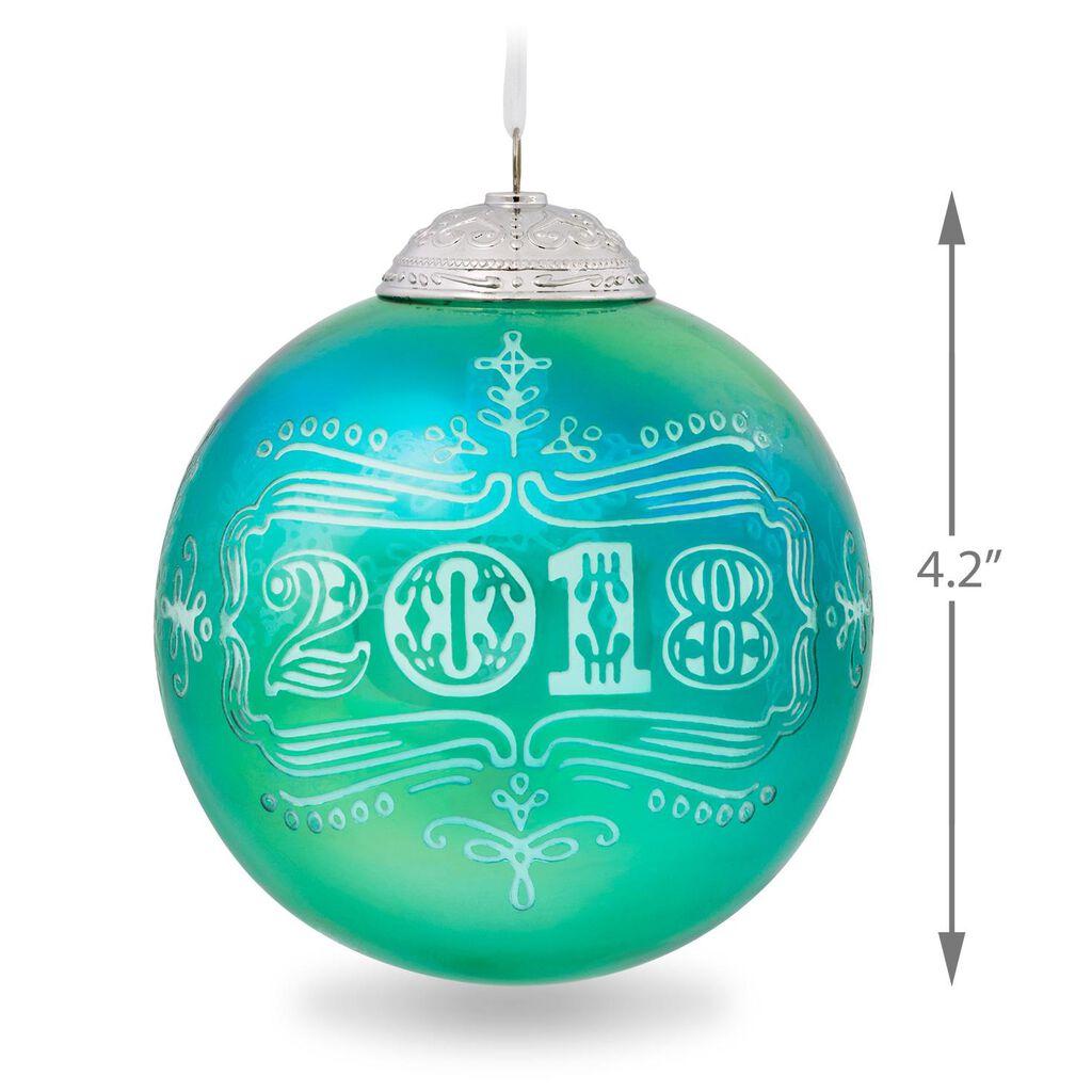 2018 christmas commemorative ornament