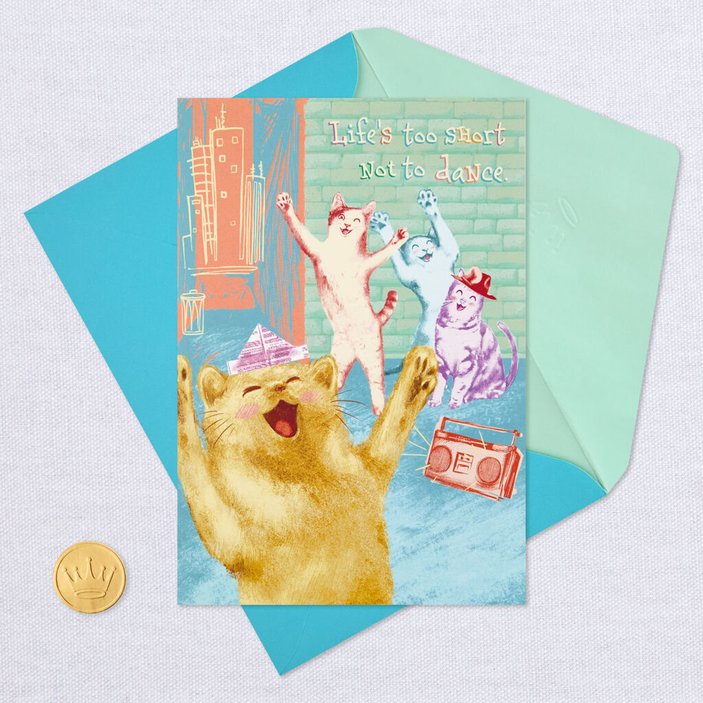Alley Cat Dance Off Musical Thinking of You Card