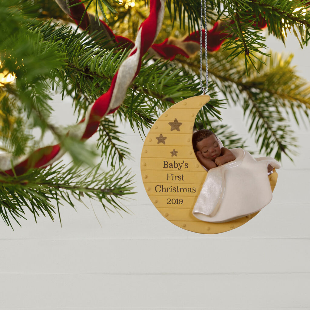 African Christmas.African American Baby S First Christmas 2019 Ornament