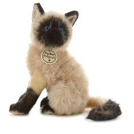 Seal Point Cat Large Stuffed Animal, , large