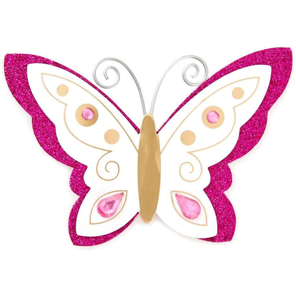 Butterfly Gift Trim With Glitter and Gems - Seals and Gift Tags ...