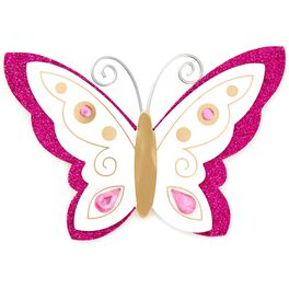 Butterfly Gift Trim With Glitter and Gems, , large