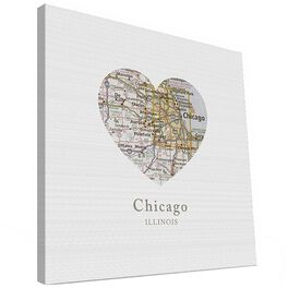 Chicago Map Canvas Print, 12x12, , large