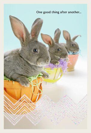 Three Bunnies Easter Card