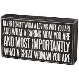 "Primitives by Kathy ""Never Forget, Mom"" Wood Box Sign, , large"
