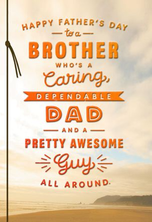 Awesome Guy Father's Day Card for Brother