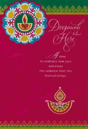 Deepawali Is Here Diwali Cards, Pack of 6